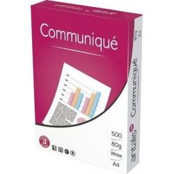 Papel fotocopiadora COMUNIQUE DIN-A4 80 gramos -4 Taladros -Paquete de 500 HOJAS