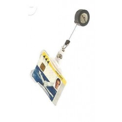 IDENTIFICADOR CON CORDON EXTENSIBLE DURABLE USO VERTICAL/HORIZONTAL 54X85 MM