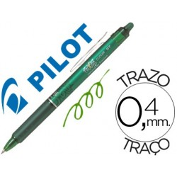BOLIGRAFO PILOT FRIXION CLICKER BORRABLE 0,7 MM COLOR VERDE
