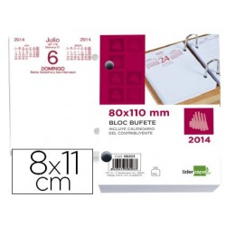 BLOC BUFETE LIDERPAPEL 2014 80 GRS 110X80 MM