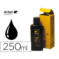 TINTA CHINA ARTIST NEGRA FRASCO 250 ML