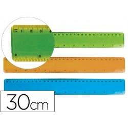 REGLA LIDERPAPEL PLASTICO FLEXIBLE DE 30 CM COLORES SURTIDOS
