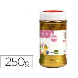 PURPURINA LIDERPAPEL FANTASIA COLOR ORO METALIZADO BOTE DE 250 GR