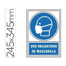 PICTOGRAMA SYSSA SEðAL DE OBLIGACION USO OBLIGATORIO DE MASCARILLA EN PVC 245 X 345 MM