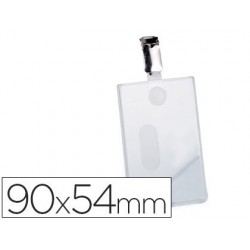 IDENTIFICADOR CON PINZA GIRATORIA DURABLE VERTICAL PVC 90X54 MM