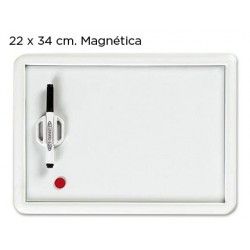 PIZARRA BLANCA MAGNETICA CON ROTULADOR Y BORRADOR 25X35 CM