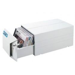 FICHERO AIDATA PARA 40 CD/DVD PLASTICO CON CERRADURA COLOR GRIS 335X178X154 MM