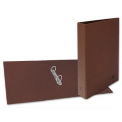 CARPETA DE 2 ANILLAS 40MM MIXTAS LIDERPAPEL FOLIOCARTON CUERO