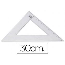 ESCUADRA LIDERPAPEL 30 CM PLASTICO CRISTAL
