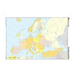 MAPA MUDO COLOR DIN A4 EUROPA -POLITICO