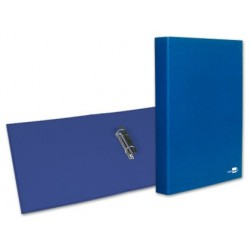CARPETA DE 2 ANILLAS 25MM MIXTAS LIDERPAPEL FOLIO CARTON FORRADO PAPER COAT COMPRESOR PLASTICO AZUL
