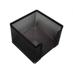 SOPORTE TACO DE PAPEL Q-CONNECT METALICO REJILLA NEGRO 95X95X80 MM