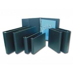 CARPETA MULTIFIN ALFA 3005-M 16 ANILLAS 25 MM PLASTICO FOLIO NEGRO