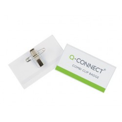 IDENTIFICADOR Q-CONNECT CON PINZA E IMPERDIBLE KF01568 40X75 MM.
