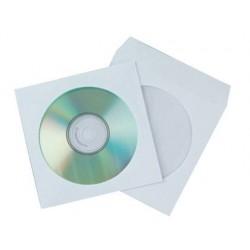 SOBRE PARA CD Q-CONNECT CON VENTANA TRANSPARENTE Y SOLAPA -PACK DE 50 UNIDADES