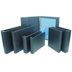 CARPETA MULTIFIN ALFA 3003-M 8 ANILLAS 25 MM PLASTICO CUARTO