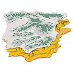 PLANTILLA PLASTICO MAPA ESPAÐA-BOLSA DE 3 22X18 CM