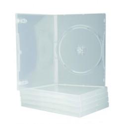 CAJA DVD Q-CONNECT TRANSPARENTE PACK DE 5 UNIDADES