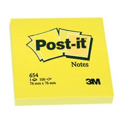 BLOC DE NOTAS ADHESIVAS QUITA Y PON POST-IT 76X76 MM CON 100HOJAS